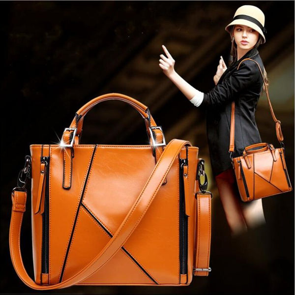 Sibile leather shoulder handbag