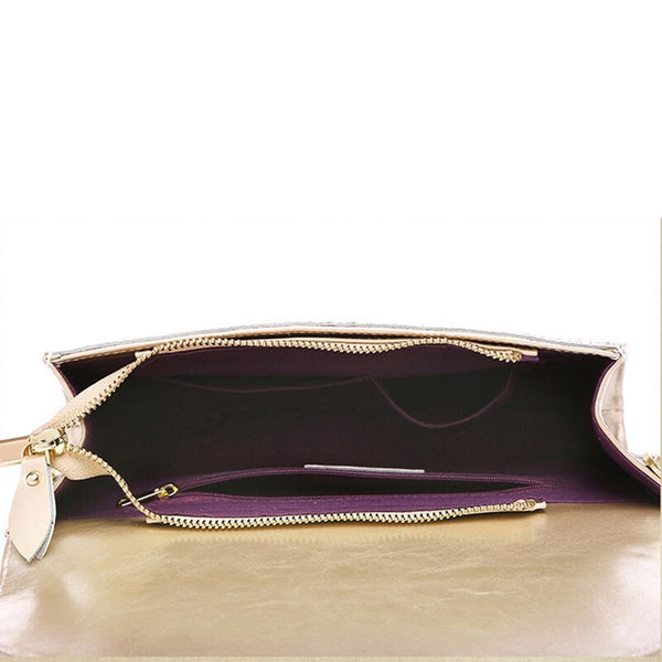 Franny genuine leather clutch