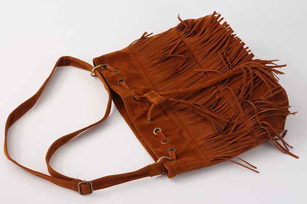 Helle PU leather bucket bag