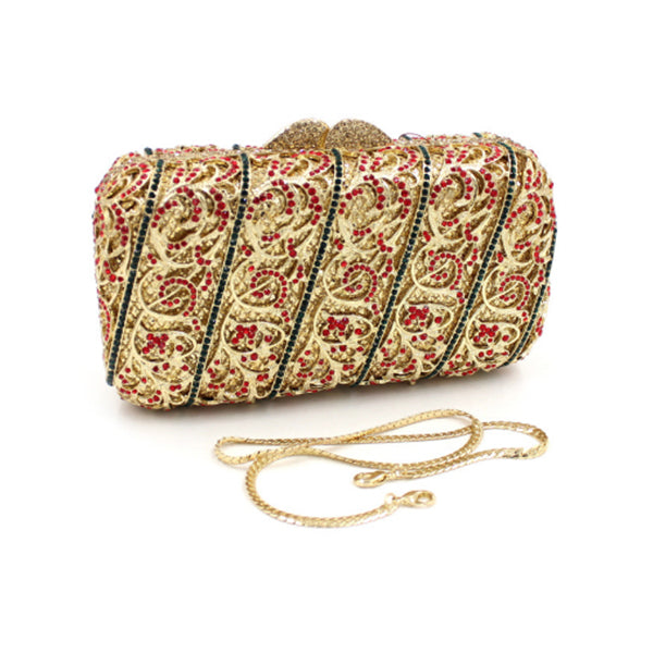 Jayla metallic clutch bag