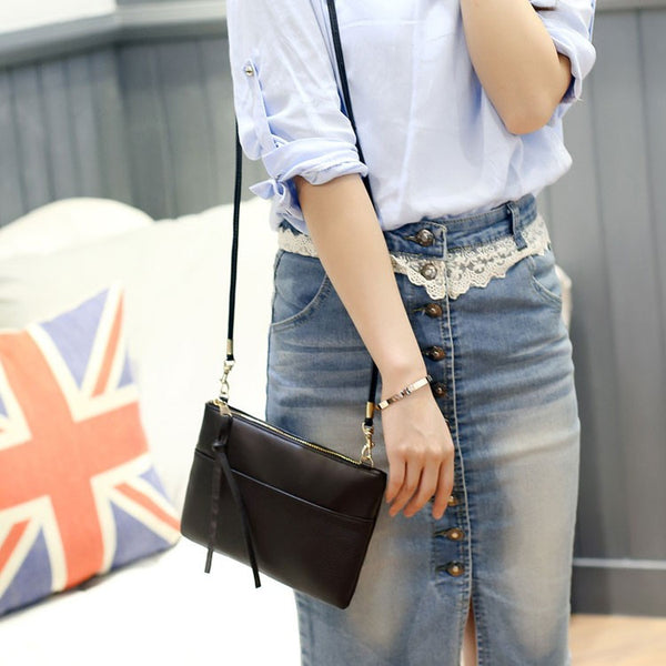Pansy PU leather cross-body bag