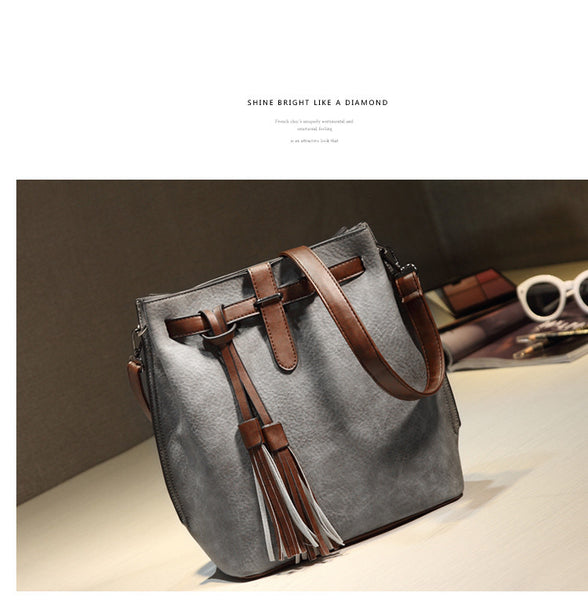 Udane PU leather bucket bag