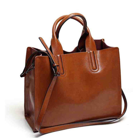 Gaia PU leather tote bag