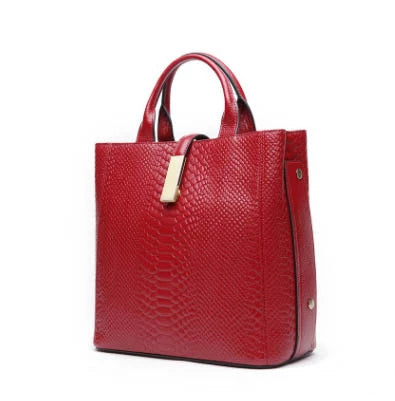 Elke genuine leather shoulder bag