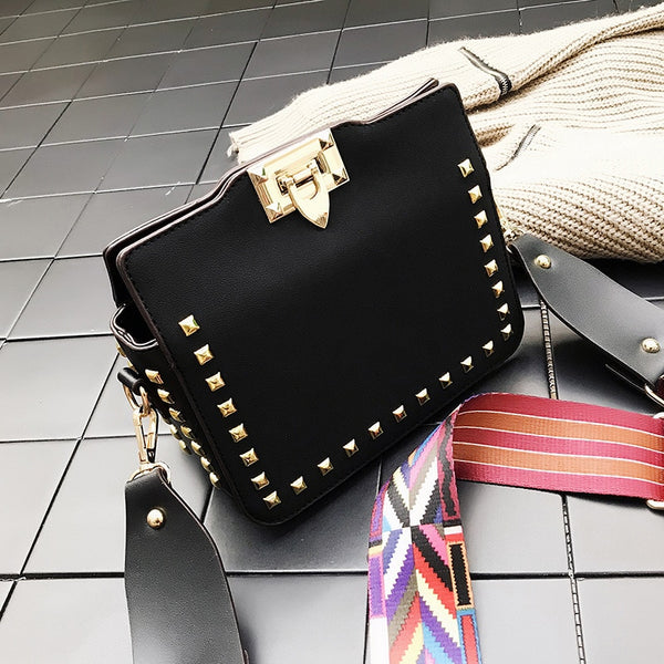 Cassie PU leather shoulder bag