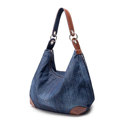 Xene denim hobo bag