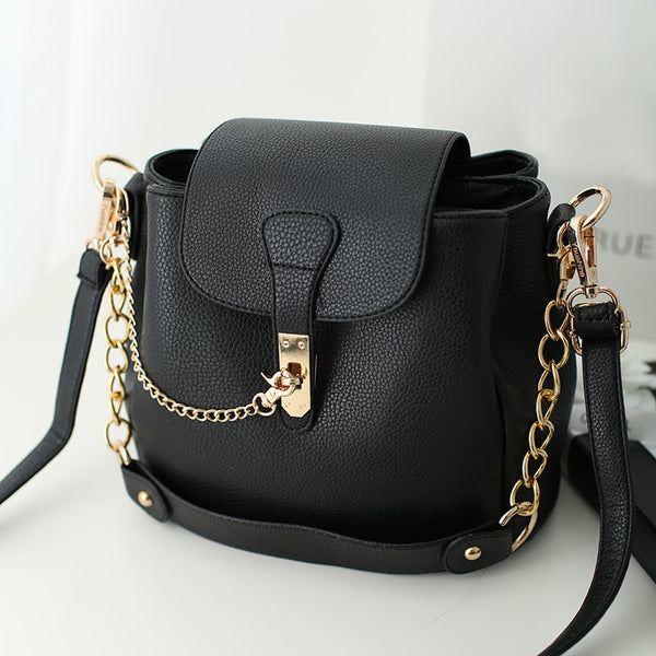 Xena PU leather cross-body bag