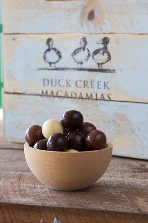 Dark, Milk & White Chocolate Coated Macadamia Nuts