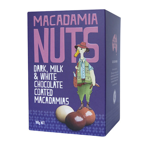 Dark, Milk & White Chocolate Coated Macadamias By Edward D Duck