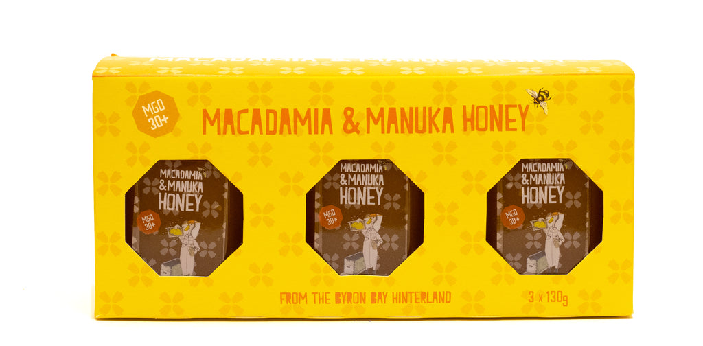 Macadamia and manuka honey gift pack