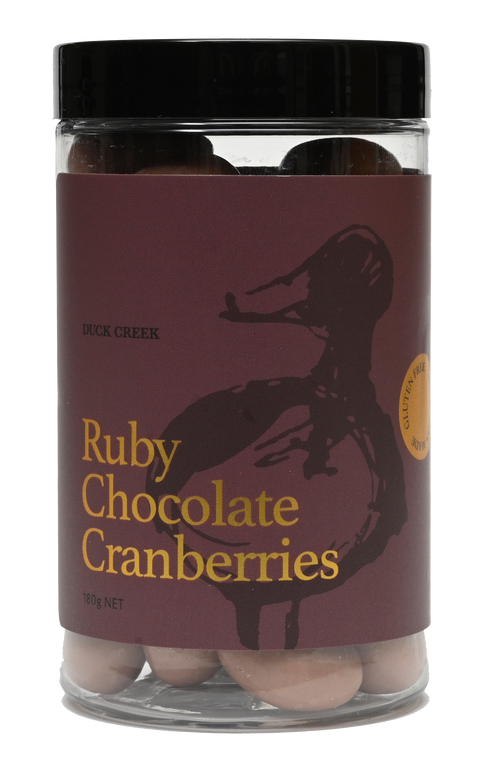 Ruby Chocolate Covered Cranberries | Gift Jar | Duck Creek Macadamias
