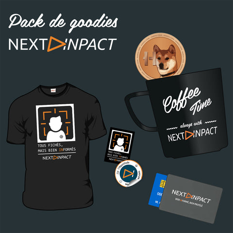Pack de goodies Next INpact - Bien informés (2017)