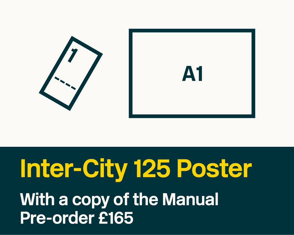 Inter-City 125 Poster – Sheet No. 4/19 + Manual - British Rail Corporate Identity Manual