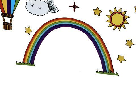 Irish Fairy Rainbow Wall Art Pack