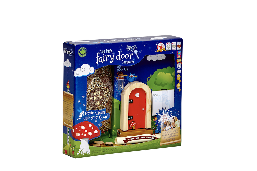 Irish Fairy Door Red Round