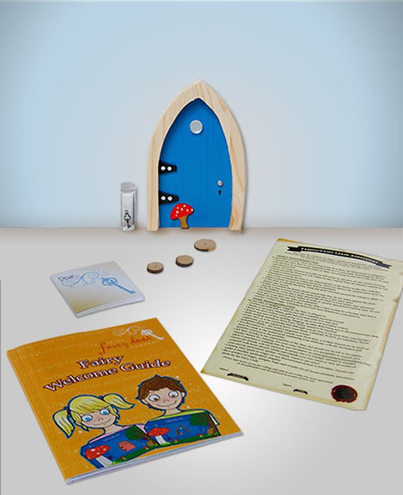 Irish Fairy Door Blue Arched