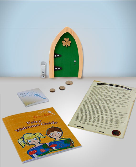 Irish Fairy Door Green Arched