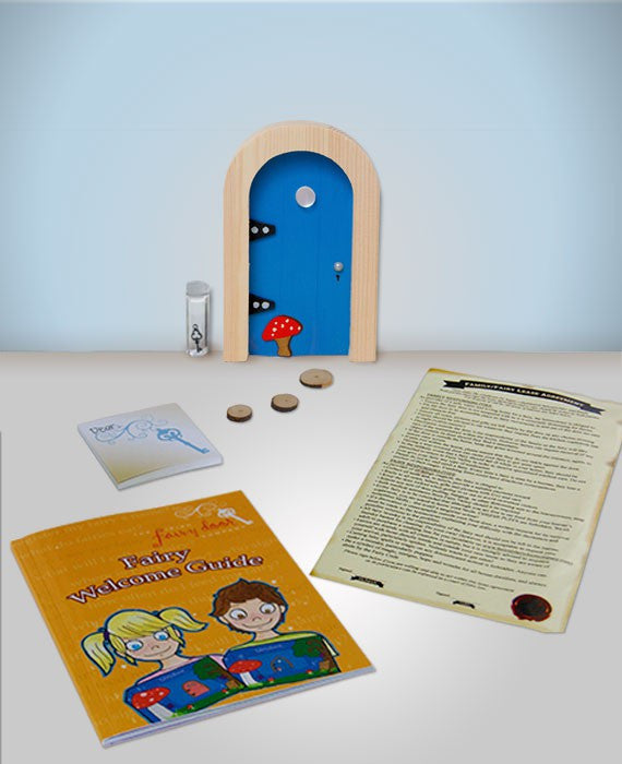 Irish Fairy Door Blue Round