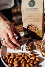 Triple Nut Banana Bar from Make it Raw. Made with activated nuts, coconut, apricot and banana.