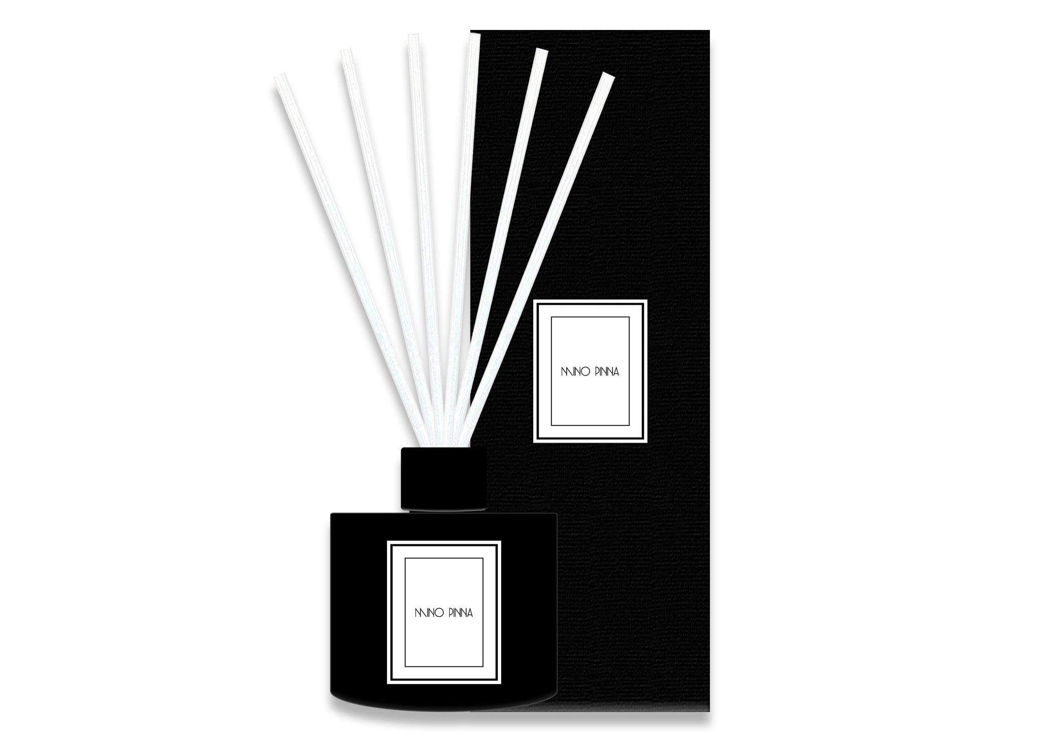 geranium mandarin and bergamot luxury diffusers with black box
