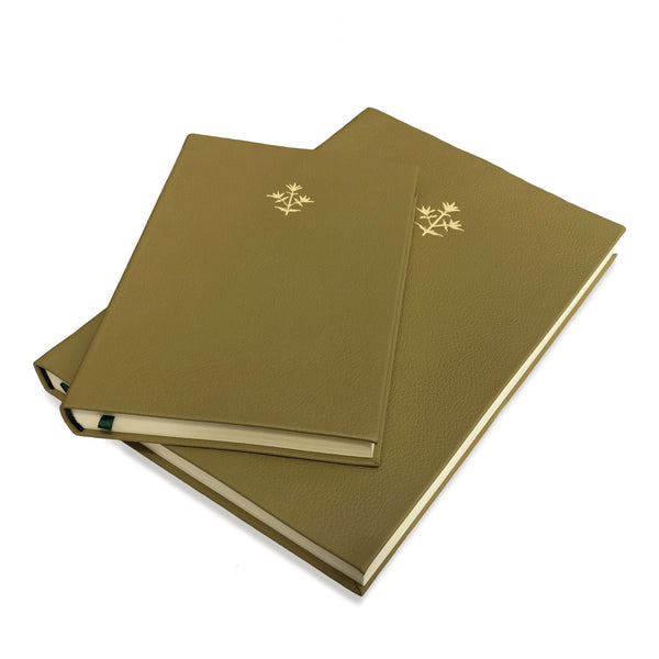 Green Thyme Leather Notebook