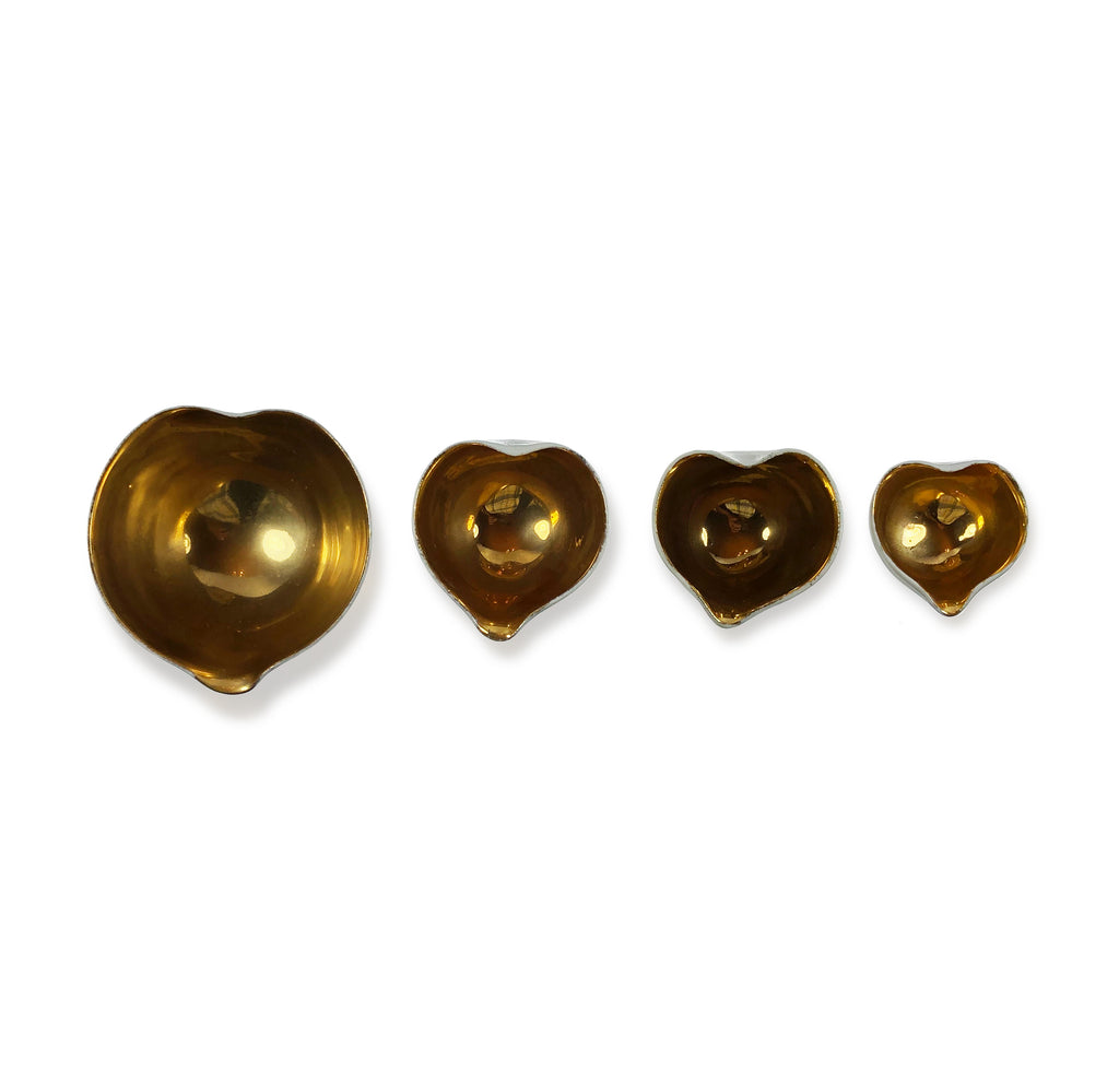 Shiny Gold Heart Bowl