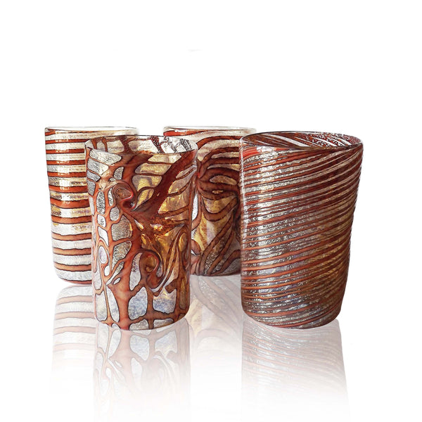 Brown and Gold Murano Glass