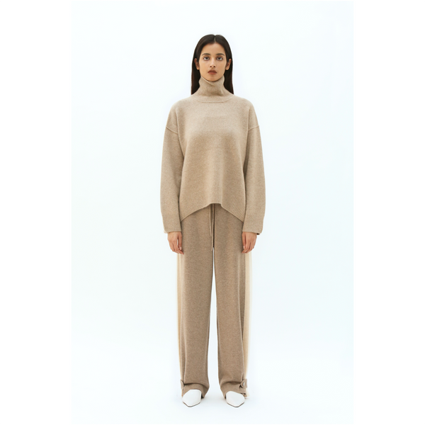 Oversized Jumper-Light Brown