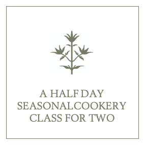 A Half Day Seasonal Cookery Class for Two