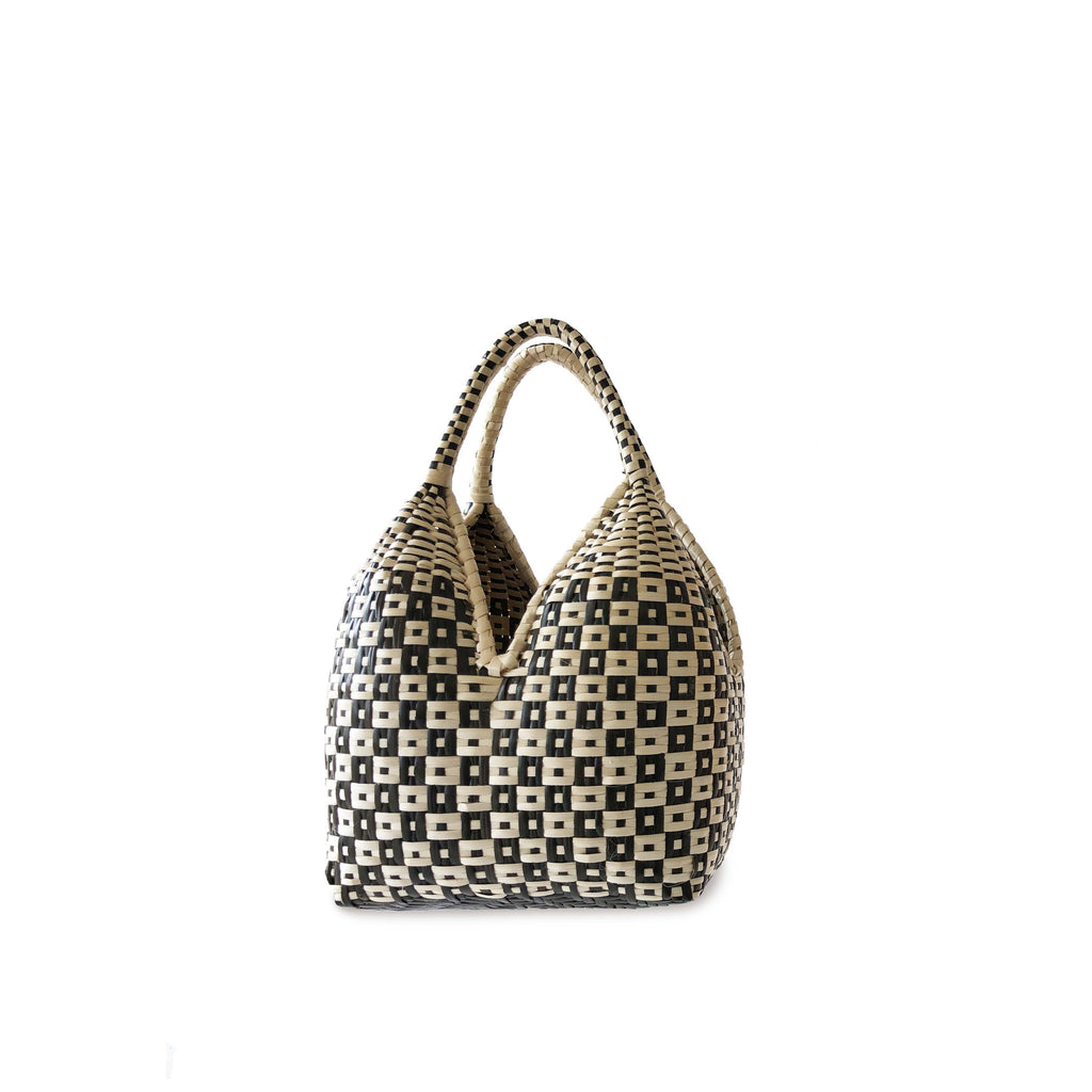 Gaupi Small Woven Clutch Basket in Button