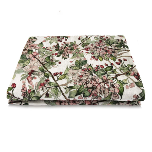 Cherry Blossom Linen Table Cloth