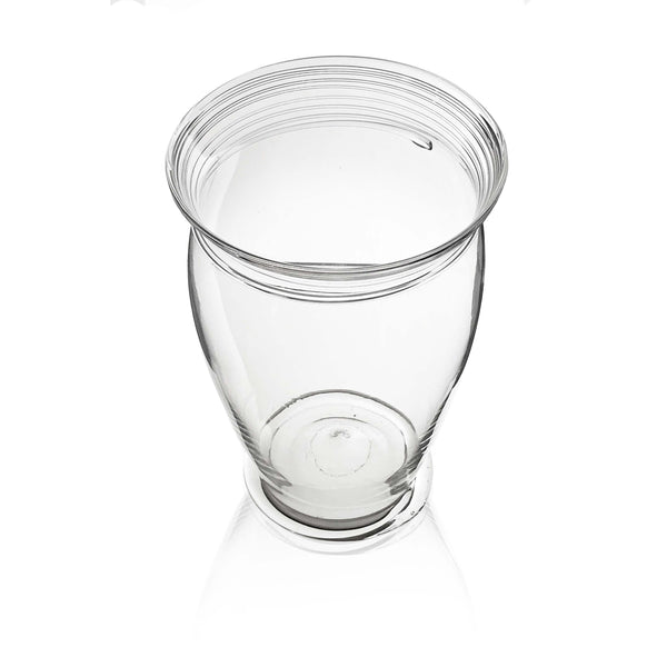 Spiral Line Glass Vase in Clear