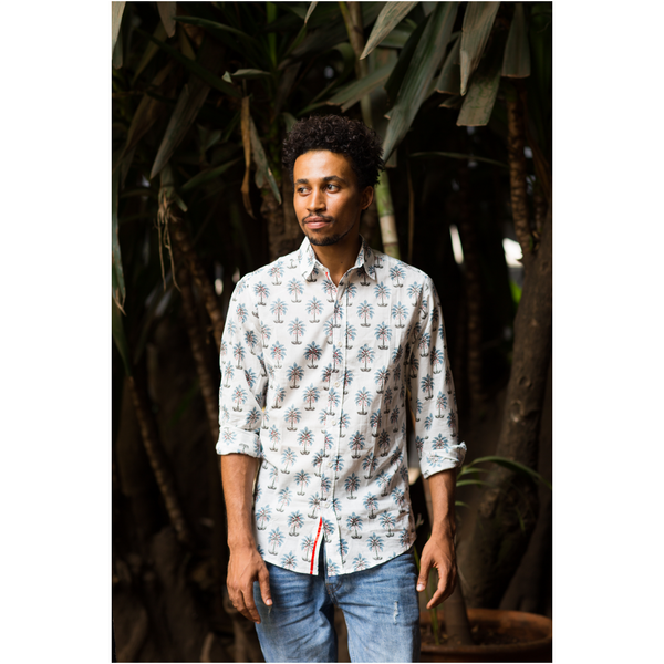 Block Printed Shirt-Mtende