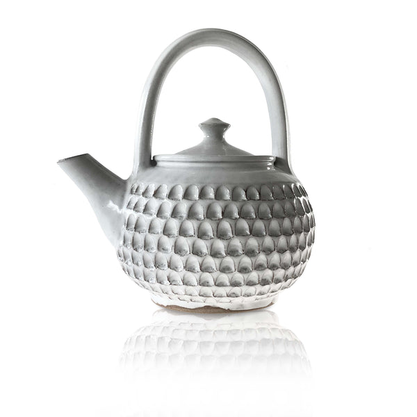 Notched Ceramic Teapot