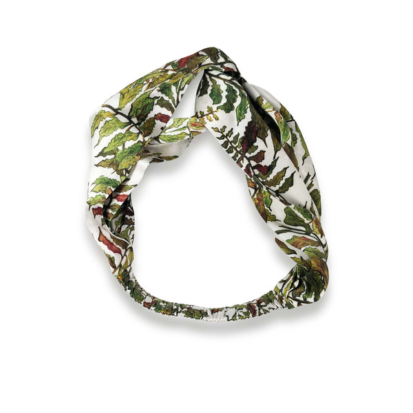 Silk Headband in Fern