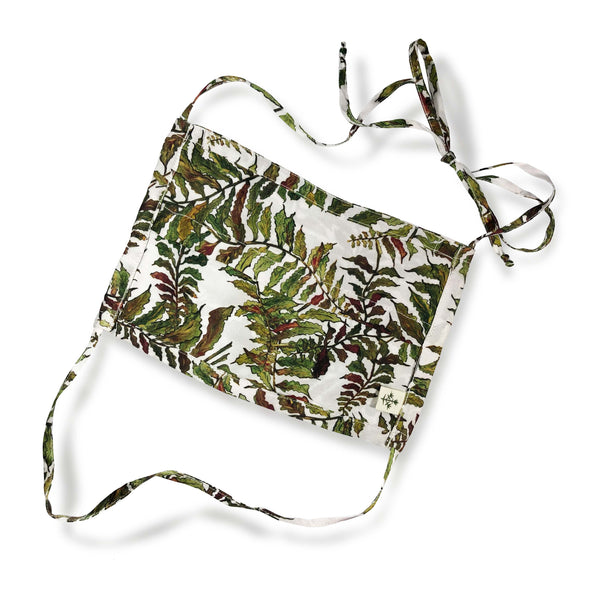 Silk Face Mask in Fern