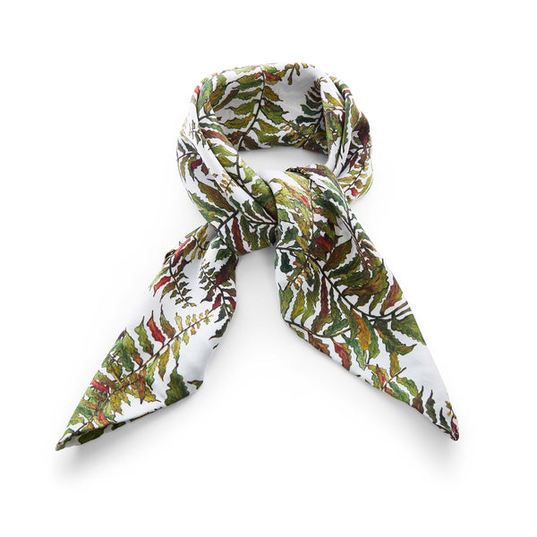 Silk Head Scarf in Fern