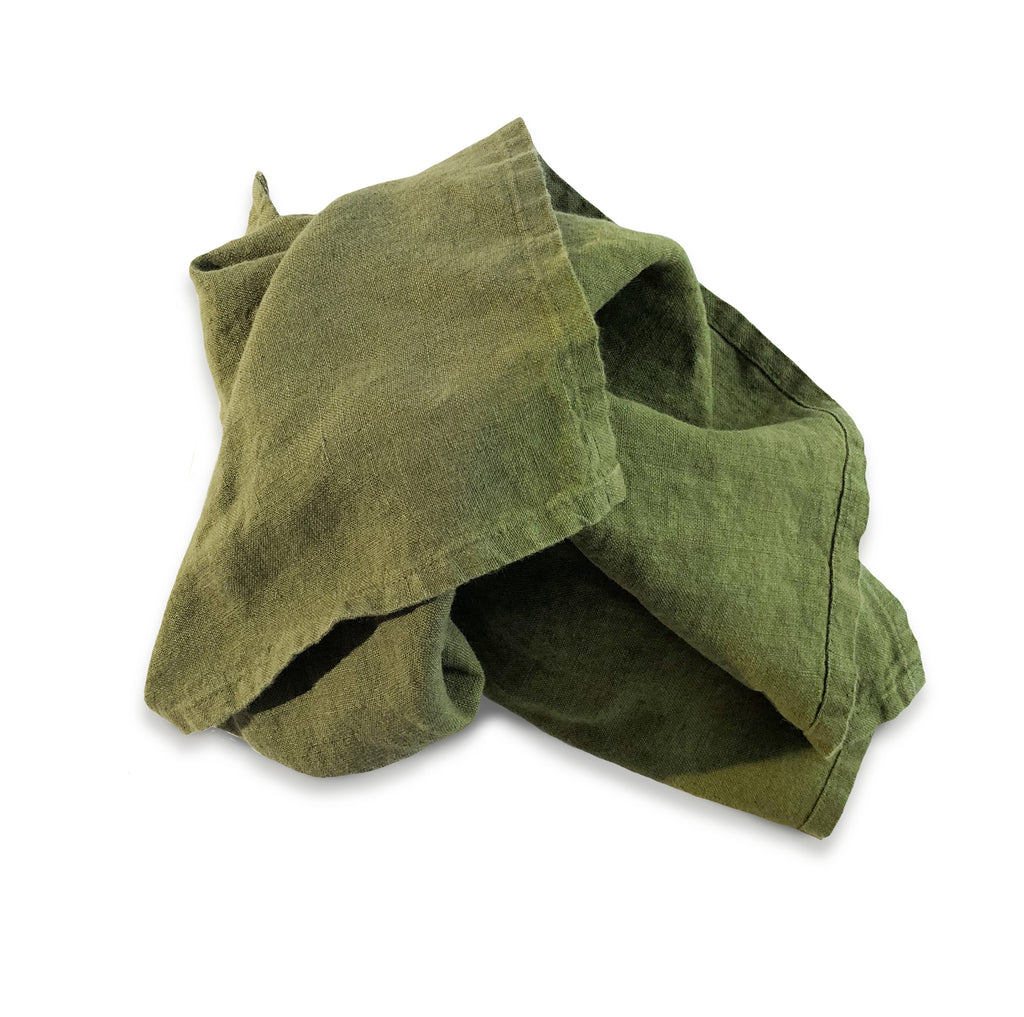 Dark Green Linen Napkin