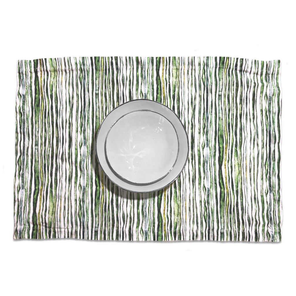 Green Stem Linen Placemat