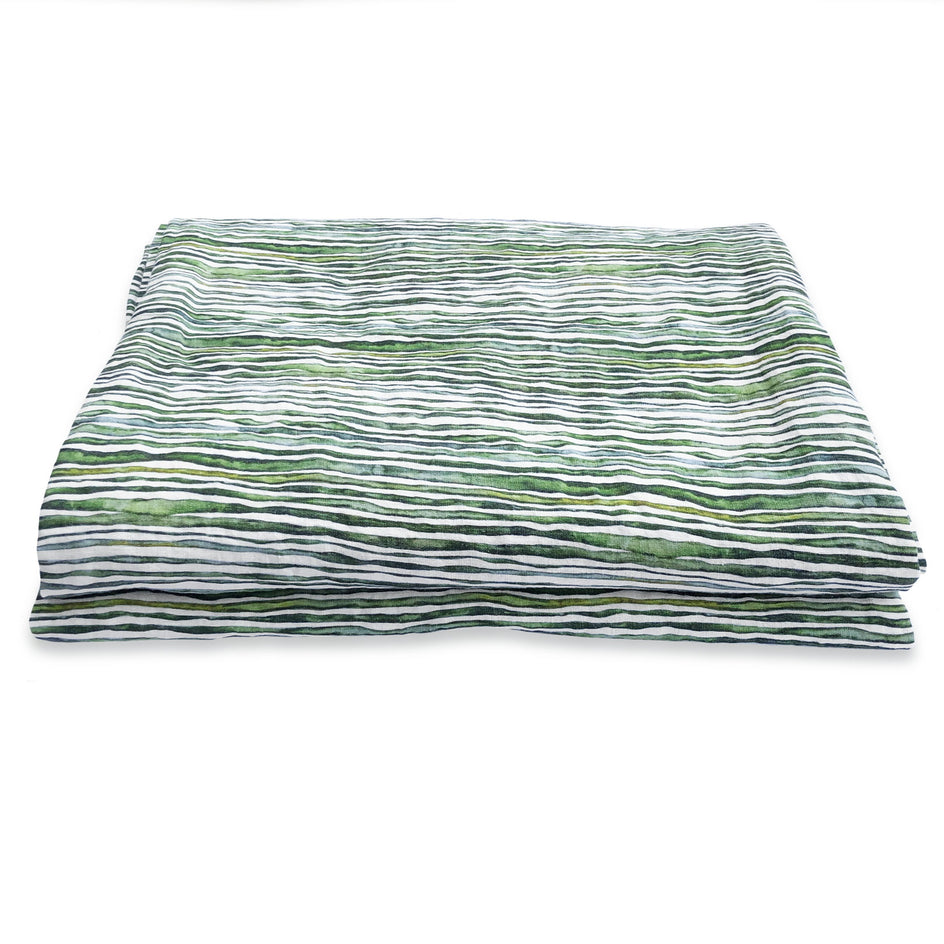 Green Stem Linen Table Cloth
