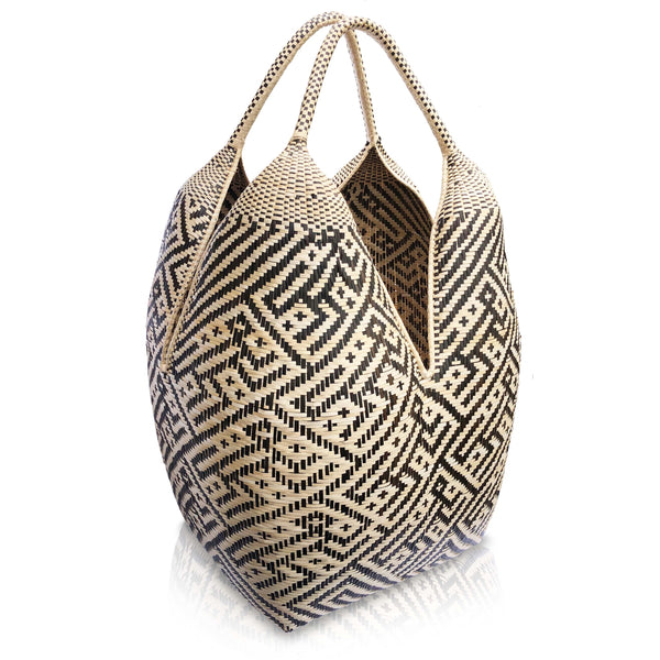 Gaupi Large Woven Basket in Monkey Design