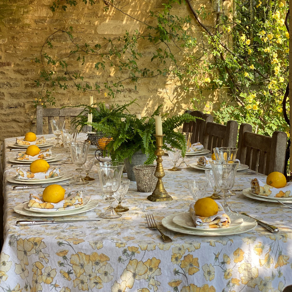 Yellow Rose Table Cloth
