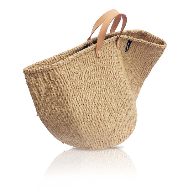 Large Basket Bag in Brown