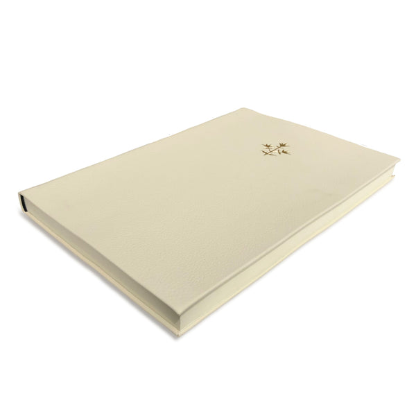 Cream Thyme Leather Notebook