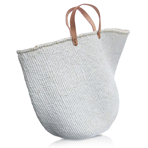 X-Large Basket Bag in White