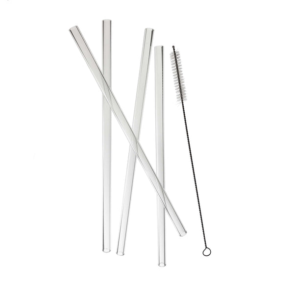 Juice glass straw set of 4