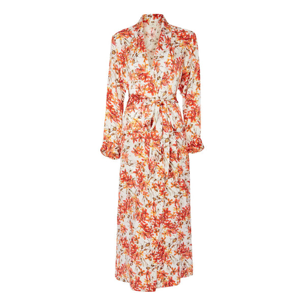 Silk Robe in Wild Rose