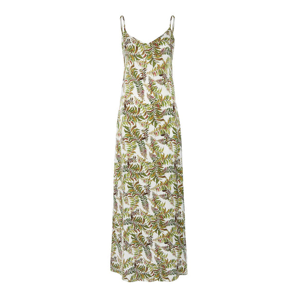 Thyme Silk Dress in Fern