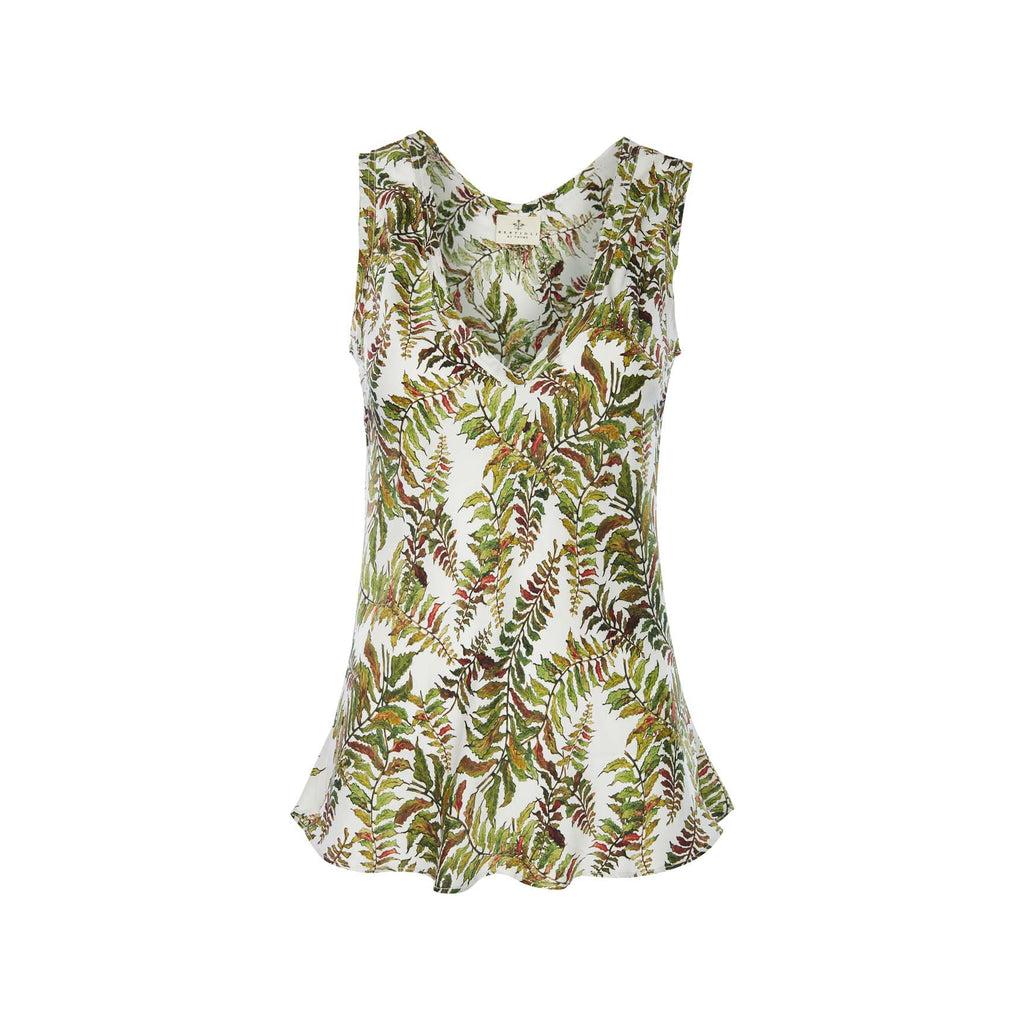 Silk Camisole Top in Fern