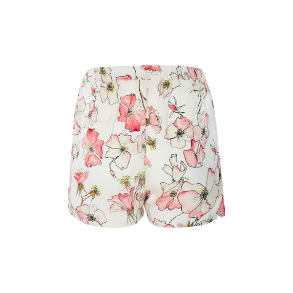 Silk Shorts in Pink Rose